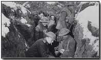 German officer in a British trench during the Christmas truce