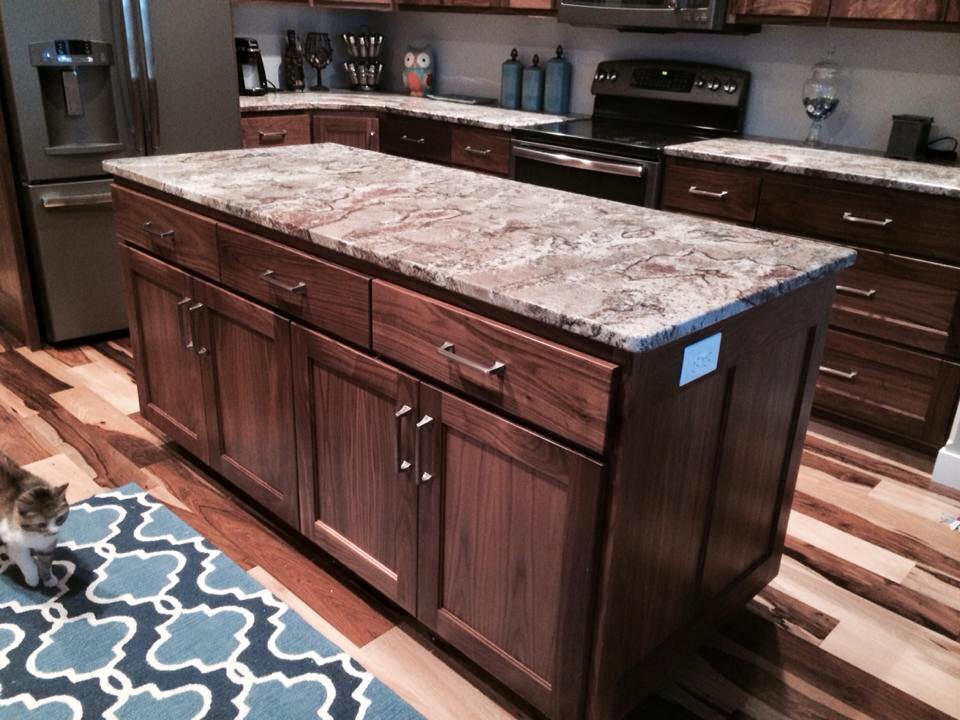 Kitchen Island made from Hickory