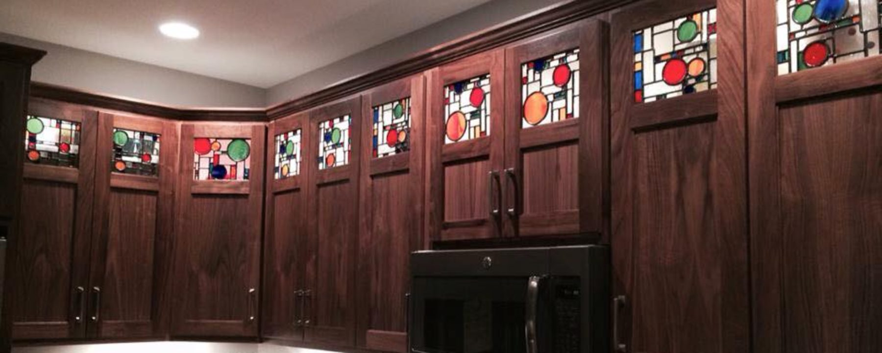 Beautiful Kitchen Cabinets made from Walnut