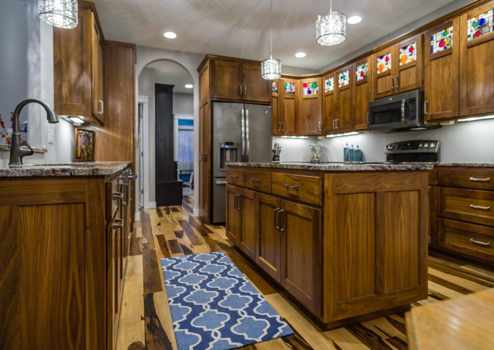Walnut Kitchen with Pecan Flooring