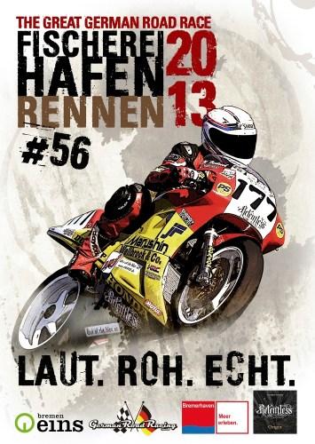 Titelseite des Rennprogramms zum 56. Bremerhavener Fischereihafen-Rennen. Gestaltung: Sabrina Adeline Hinck