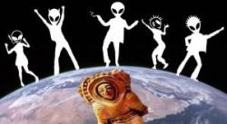 """Nutzten """"geilen Raumfahrer"""" vor Jahrtausenden die Erde als """"Partyplanet""""? (Bild: L A. Fischinger / NASA/JPL / freeclipart / Bearbeitung: L. A. Fischinger)"""