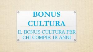 bonus cultura 2001