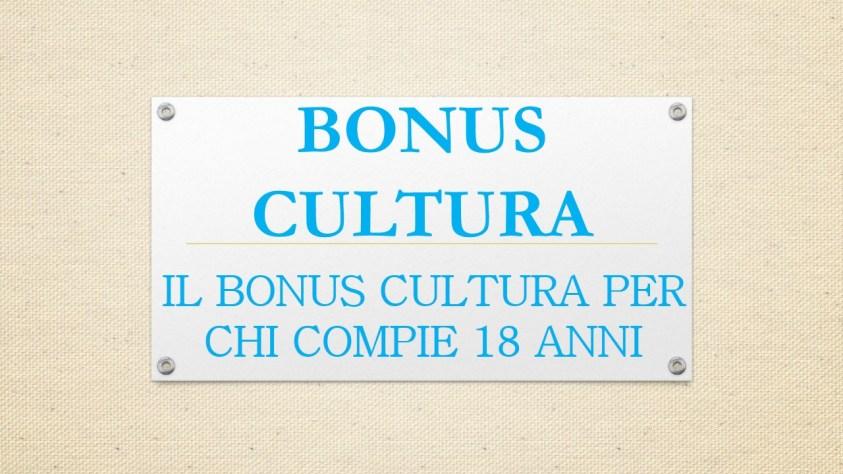 BONUS CULTURA 2001, FISCOQUOTIDIANO