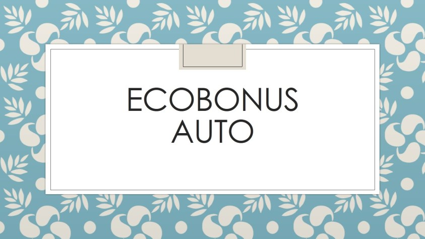 ecobonus auto,