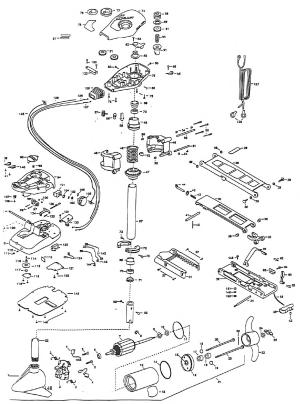 Minn Kota All Terrain 50 Parts  1998 from FISH307