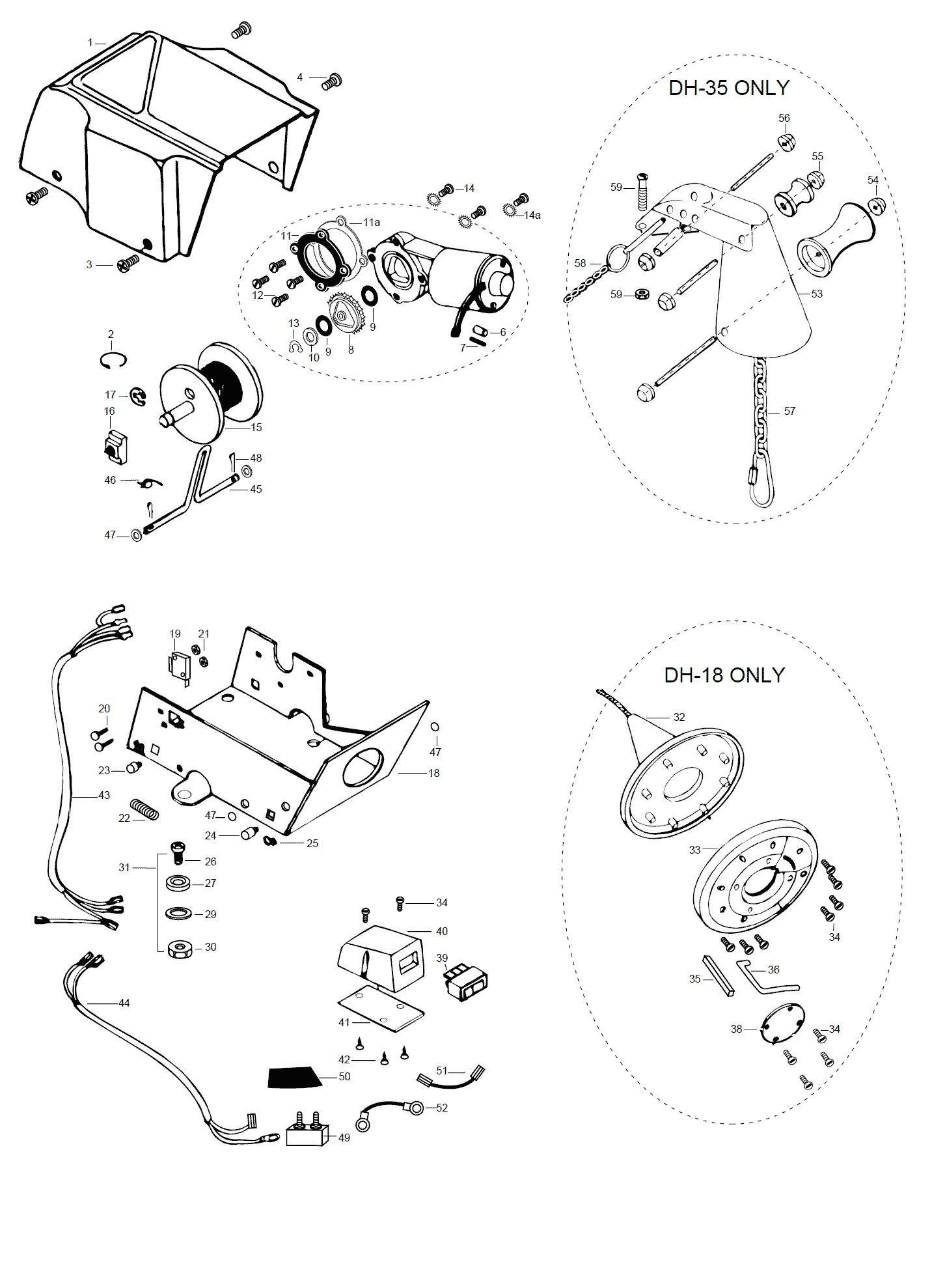 Minn Kota Deckhand 18 Parts