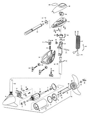Minn Kota Powermax 47 Parts  2001 from FISH307
