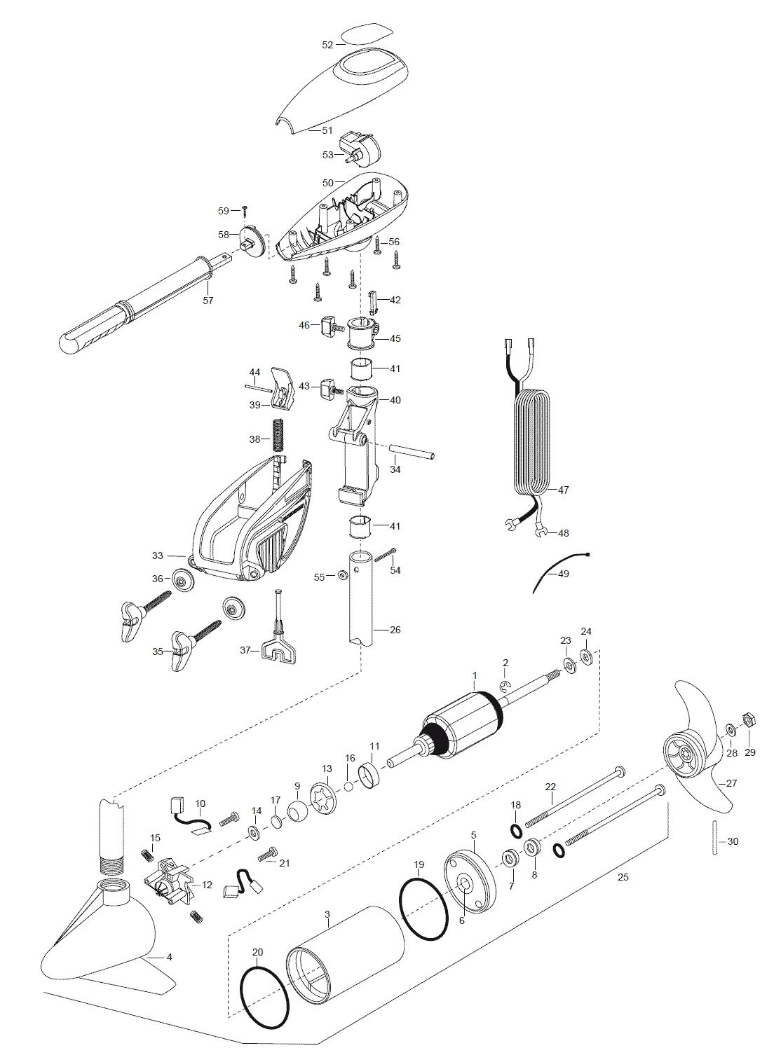 Minn Kota Endura 40 Parts