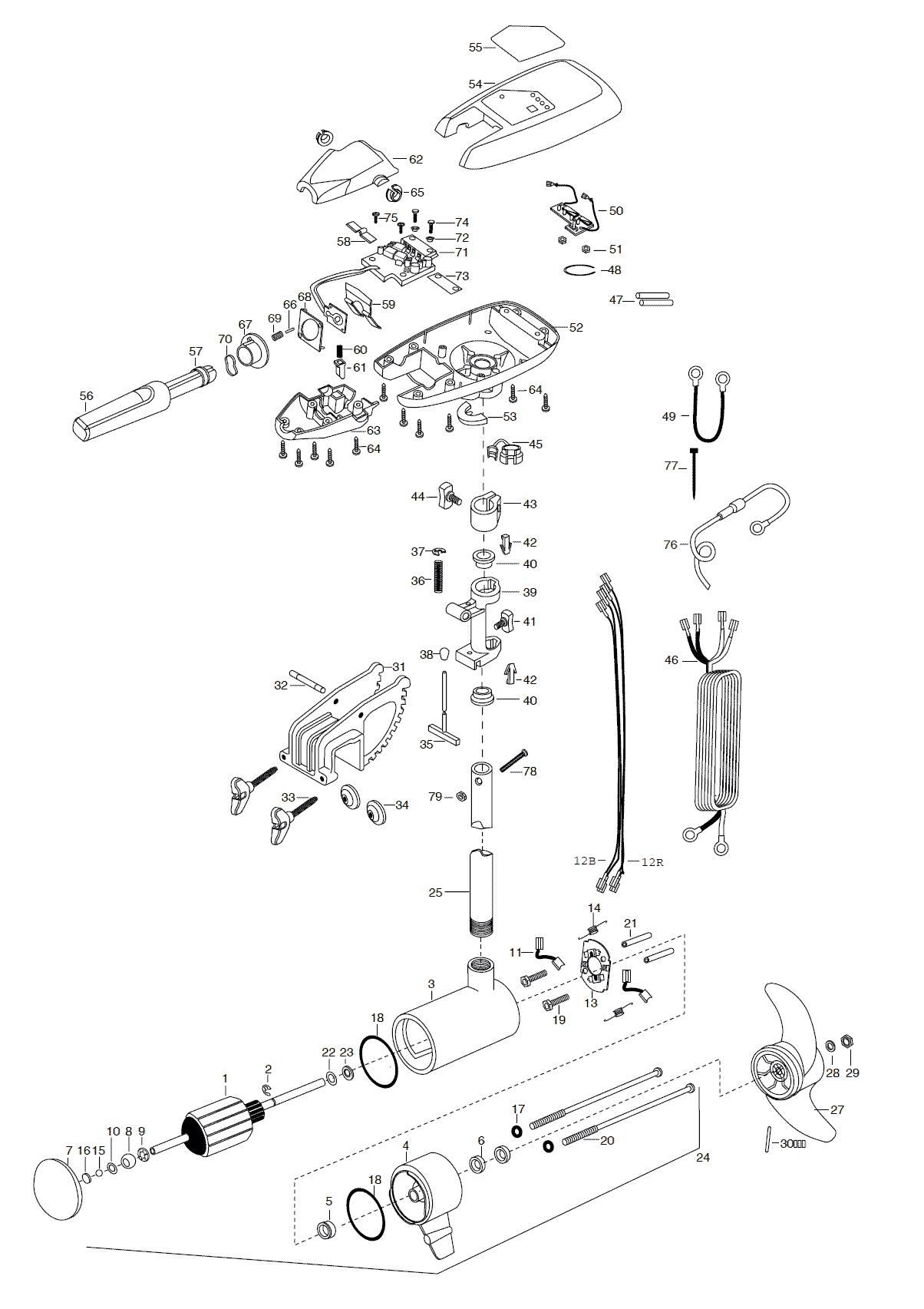 Minn Kota Maxxum 74t 36 Inch Parts