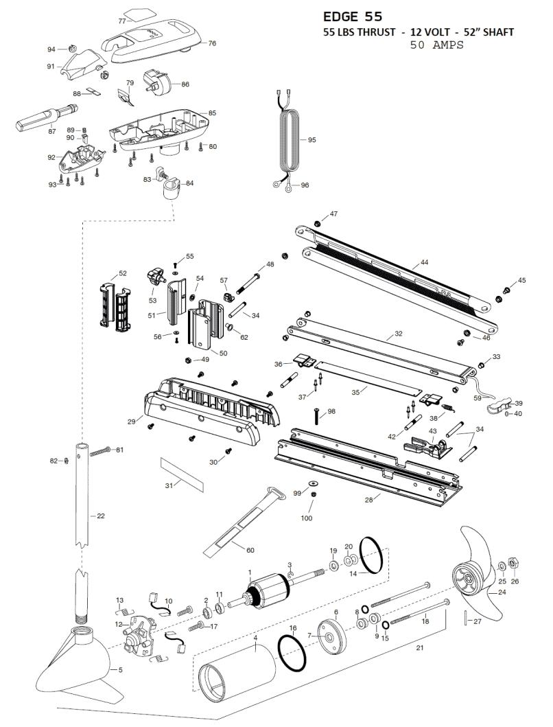 Minn Kota Endura 50 Parts Diagram