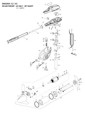Minn Kota Endura C2 30 Parts  2015 from FISH307