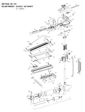 Minn Kota Riptide 55 SE Parts  2015 from FISH307