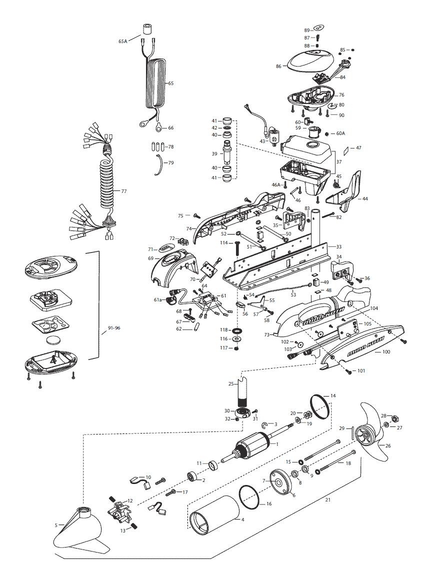Kota Maxxum Parts Diagram On Minn Kota Trolling Motor Parts Diagram