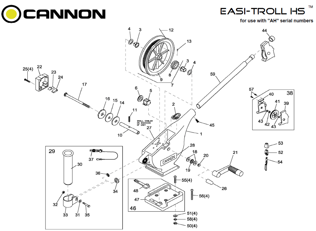 Order Cannon Easi Troll Hs Parts Online At Fish307