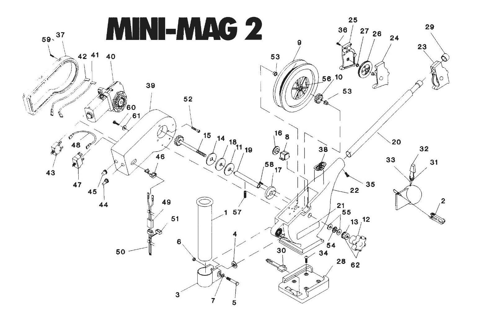 Order Cannon Mini Mag 2 Electric Downrigger Parts From