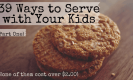 Do you want to raise kids that know how to serve others, but you aren't sure what sort of service projects you can actually do with your kids? Here's a list of 39 service projects that are perfectly suited for families, no matter how young your kids are. Plus, none of them cost over $2.00!