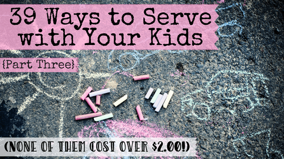 If you've got kids, then you know how real the struggle can be to get them to simply clean up after themselves. But what if we raised the bar even higher and taught them to serve others selflessly? What if we committed to raise a generation of kids who gave freely of themselves for the sake of others?