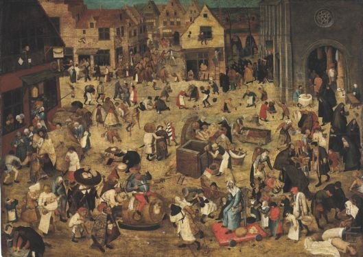 The Battle of Carnival and Lent, by Pieter Brueghel the Younger, A.D. 1564-1638