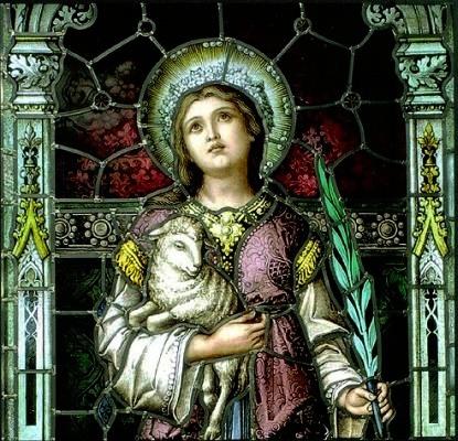 Saint Agnes Painting