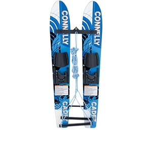 cwb cadet blue combo water skis, best combo water skis, slalom water ski, youth water skis clearance