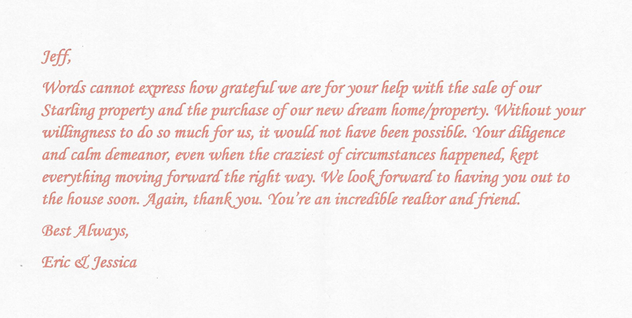 Testimonial of Jeffrey Gould FishHawk Realtor