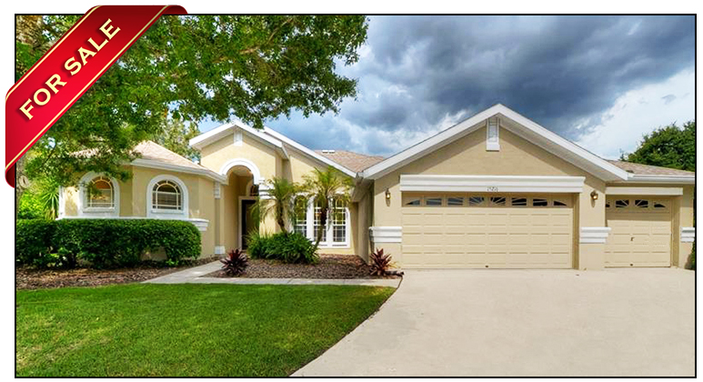 Stunning Pool Home On Large Cul-De-Sac For Sale In The FishHawk Ranch Subdivision Of Merlin Glen