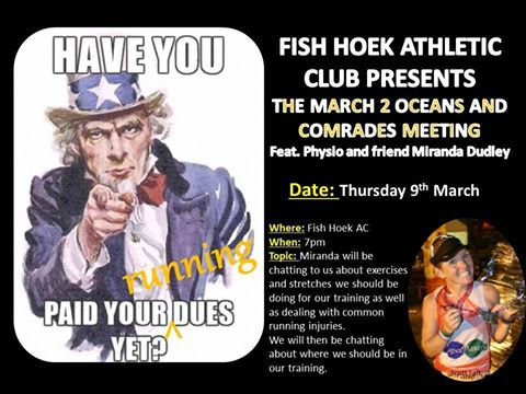 Two Oceans and Comrades Meetings