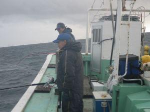 大津船サケ釣り