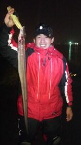 苫小牧西港。猿子 アナゴ77cm