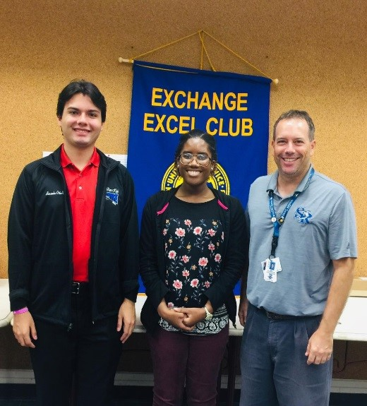 Excel Club of Sebastian River High School, featured speaker Sebastian Exchange Club