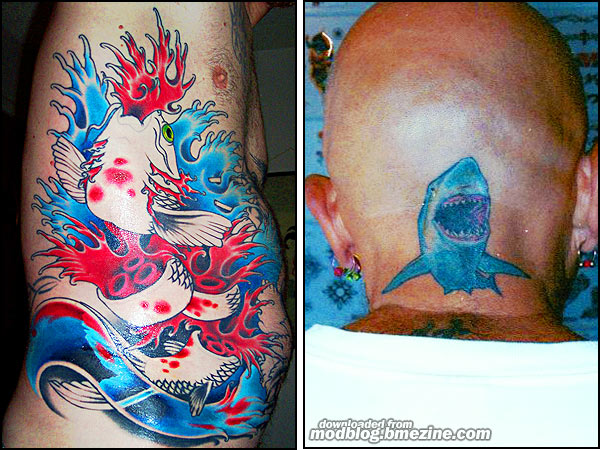 Shannon posted some cool fish tattoos to modblog last night.
