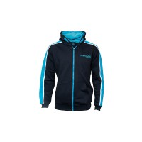 Felpa Full Zipped Hoody Black/Aqua New DRENNAN
