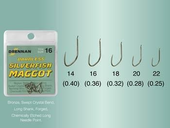 Ami DRENNAN Barbless Silverfish Maggot