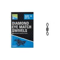 Girella Diamond Eye Match swivels PRESTON (20 pz)