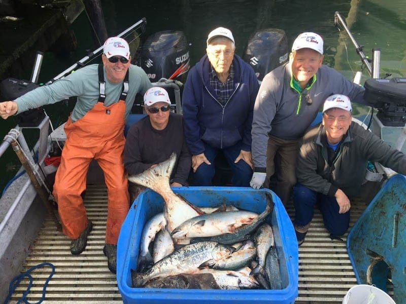 The Stein Team Charter Salmon & Halibut Fishing on Fish N' Chips Charters