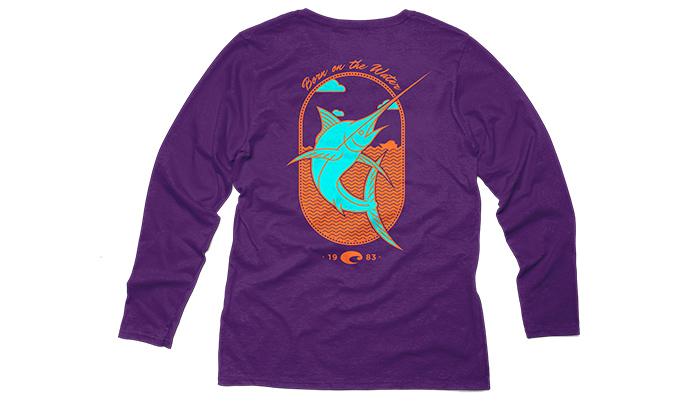 Sleeve Purple Southern Long Shirt