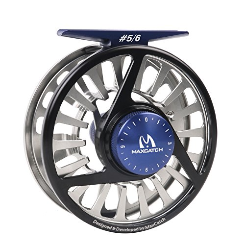 Maxcatch Avid Fly Reel and Spare Spools with CNC-machined Aluminum Alloy Body 3/4, 5/6, 7/8wt (Sliver, Black)