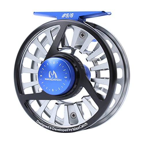 Maxcatch 3/4,5/6,7/8wt Fly Fishing Reel with CNC-machined Aluminum Alloy Body Mid-arbor
