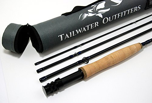 Tailwater Outfitters Toccoa Fly Rod: High Performance 4 piece, Fast Action IM8 Graphite With Rod Tube.
