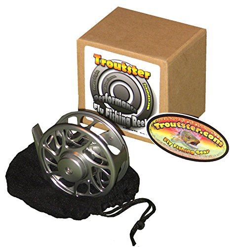 Troutster Westslope Fly Fishing Reel - CNC Machined Tough Drag System Fly Reel; Flyreel for Freshwater Trout and Steelhead
