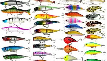 Fishing Lures Lot with Tackle Box,AGadget 204PCS/Lot Fishing