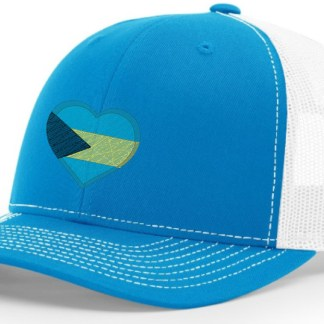 Bahamas Hat Blue and White