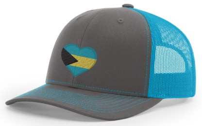 Bahamas Hat Gray and Blue