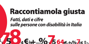 Raccontiamola giusta - Fatti, dati e cifre sulle persone con disabilità in Italia