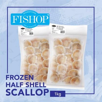 Frozen Half Shell Scallop (1kg)