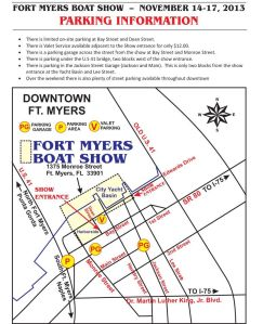 boat show map and parking