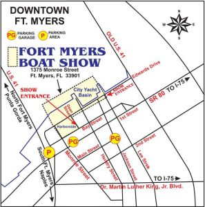 boat show parking flyer