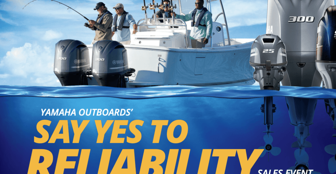 Yamaha Outboard sales event flyer