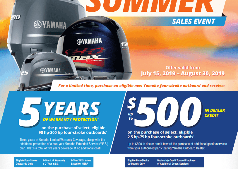 Yamaha Outboards Power The Summer Sales Event | Fish Tale Boats